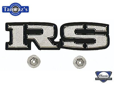 "69 Camaro "" RS "" Rear Body Tail Panel Emblem w/ Hardware NEW"