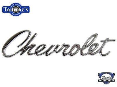 "67 Camaro "" Chevrolet "" Trunk Lid Header Panel Emblem"