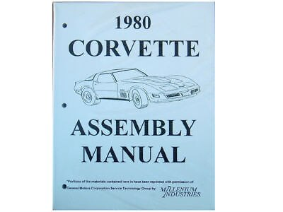 1980 Corvette Factory Assembly Manual New 80