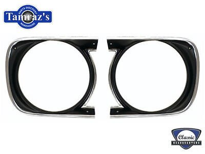 68 Camaro Standard Head Light Lamp Bezel Trim Molding - PAIR