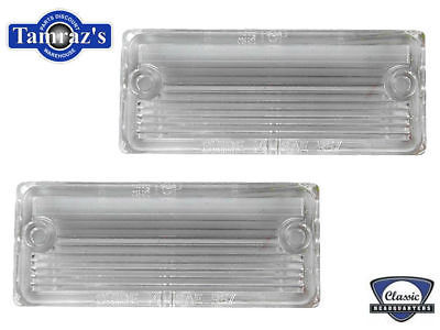 67 68 Camaro RS Reverse Back Up Lamp Light Lens PAIR