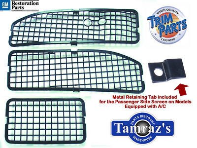68-72 Chevy Pontiac A Body Cowl Grille 3 Screens w A/C