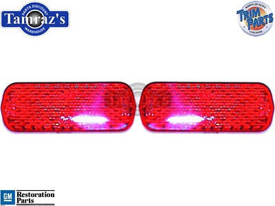 62-64 Chevy II Tail Light Lamp Lens Reflector PAIR USA