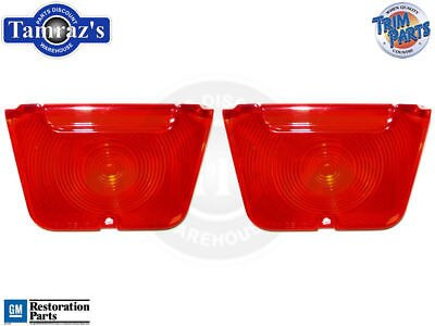 62-4 Chevy II Tail Light Lamp RED Back Up Lens w/ Gasket Pair USA MADE