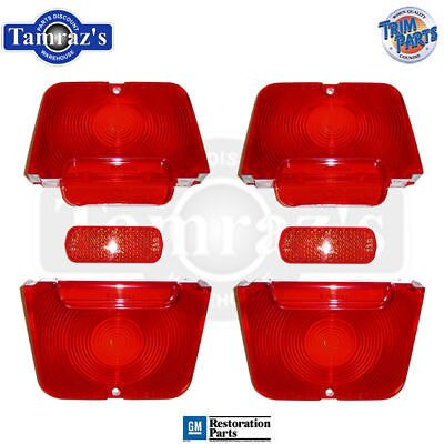 62-4 ChevyII Tail Light Lamp & RED Back Up Lens SET L&R