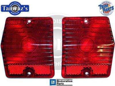1965 Nova Chevy II WAGON Tail Light Lamp Lens Pair USA