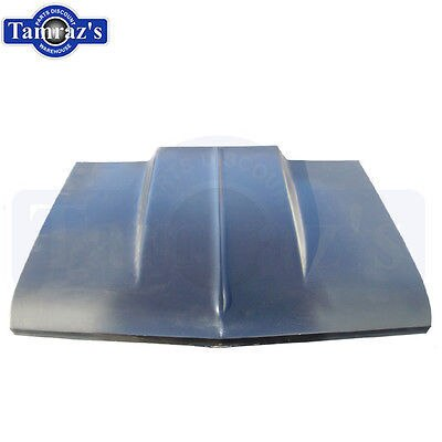 "1966 1967 Chevy II Nova cowl Hood 2"" Bolt On Fiberglass"