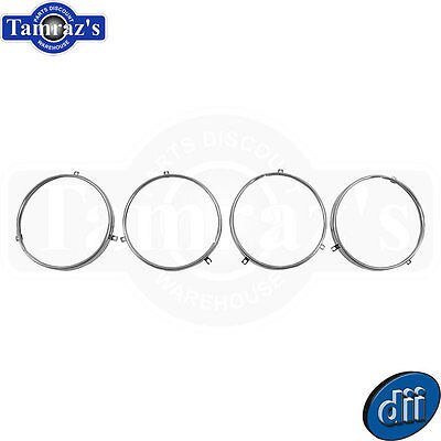 64-70 Chevelle 67-70 GTO Front Headlamp Light Mounting Ring Set