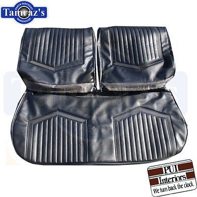 1971-1972 Skylark GS Front Bench Seat Upholstery Covers - Black New PUI