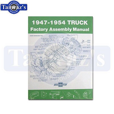 1947 -  1954  Chevrolet Truck Factory Assembly Manual Bound New