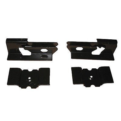 64-72 Chevelle Floor Pan Rear Seat Mounting Anchor Brackets Bracket 4pc Set