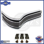65 Caprice & SS painted Black Rear Body Tail QUARTER Panel Corner Molding LH