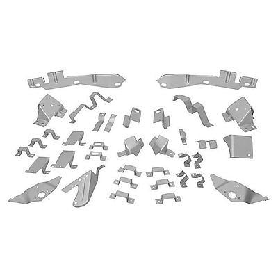 65-66 Mustang Fastback Body Shell Brace Support Bracket Set - 37 Pieces
