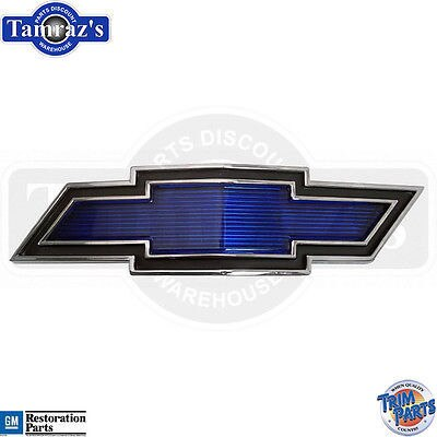 1969 Chevelle Malibu Standard Blue Bowtie Grille Emblem w/Hdw  Made in the USA