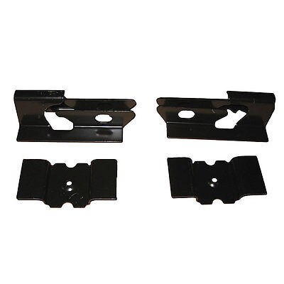 64-72 GM A-Body Floor Pan Rear Seat Mounting Anchor Brackets Bracket 4pc Set