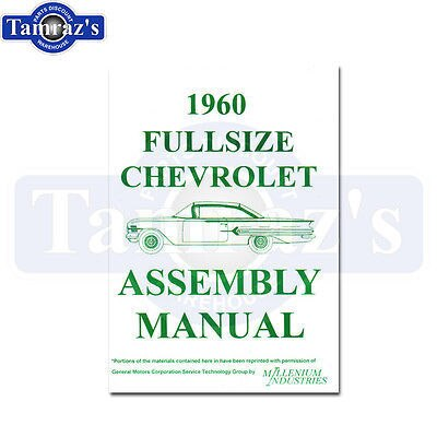 1960 Bel Air Biscayne Impala Factory Assembly Manual Loose Leaf Unbound