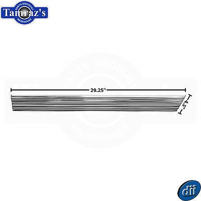 66 El Camino Quarter Panel Lower Rocker Chrome Trim Molding Extension - RH