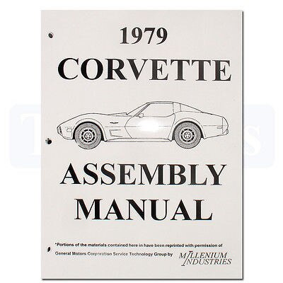 1979 Corvette Factory Assembly Manual Loose Leaf UnBound New