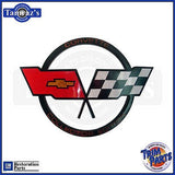 1982 Corvette Collectors Edition X Flag Hood Nose Emblem Made in the USA