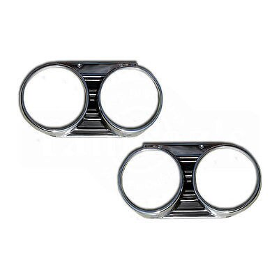 1967 Chevelle Malibu Headlamp Head Lamp Bezels Pair - Dynacorn