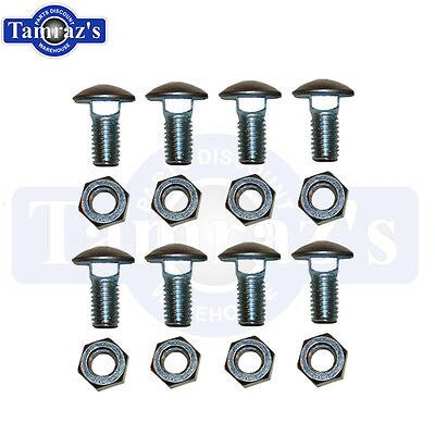 62-5 Chevy II Nova Front Bumper & 66-67 Nova Rear Bumper Bolt Set of 8 Bolts New
