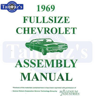 1969 Chevrolet Full Size Factory Assembly Manual Loose Leaf Brand New