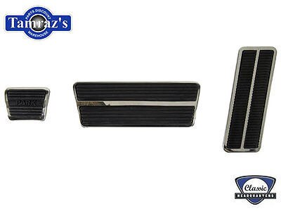67 68 Camaro AutoTrans Brake Park Gas Pedal w/ Trim Set