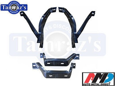 70-2 Barracuda Cuda Front & Rear Bumper Bracket Set AMD
