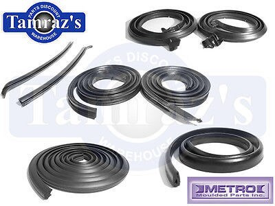 66-67 GTO Cutlass Skylark Weatherstrip Seal Kit 8 Pieces 2 Door Coupe New Metro