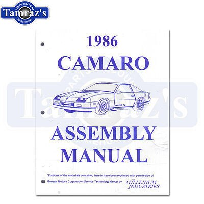 1986 Camaro Factory Assembly Manual Loose Leaf UnBound New