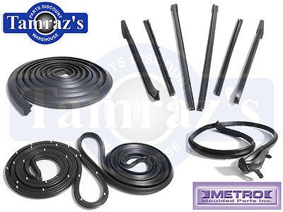 67-68 GM B Body Convertible Weatherstrip Seal Kit 10 Pieces New Metro