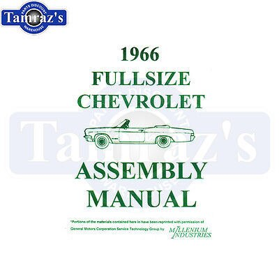 1966 Bel Air Biscayne Impala Caprice Factory Assembly Manual Loose Leaf Book
