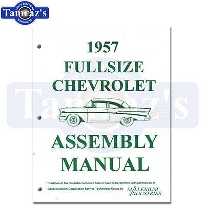 1957 Chevy Bel Air 150 210 Factory Assembly Manual Loose Leaf UnBound New