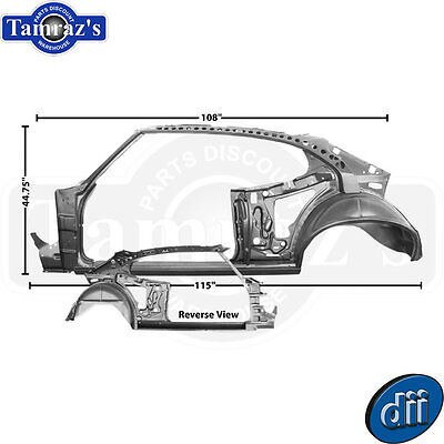 68-69 GTO Body Side Door Quarter Roof Rocker Wheel Well Inner Frame Structure LH