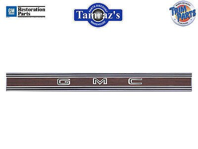 69-72 GMC Pickup Truck Tailgate Trim Molding with WOODGRAIN Insert