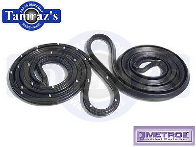 68-74 Nova Door Weatherstrip Seals 4 Door Sedan Front  LM20M USA MADE Metro