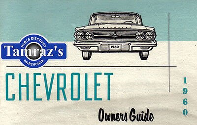 1960 60 Chevrolet Owners Manual New