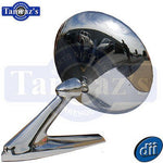 67-68 Pontiac Models Outside Rear View Door Mirror Chrome Round w/Hdw DynaCorn