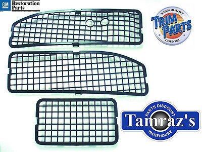 68-72 Chevy Pontiac A Body Cowl Grille Screens w/o A/C