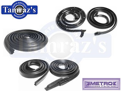 63-64 GM B Body Weatherstrip Seal Kit 2 Door Hardtop 5 Pieces Metro
