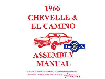 1966 Chevelle & El Camino factory assembly manual 66 ub