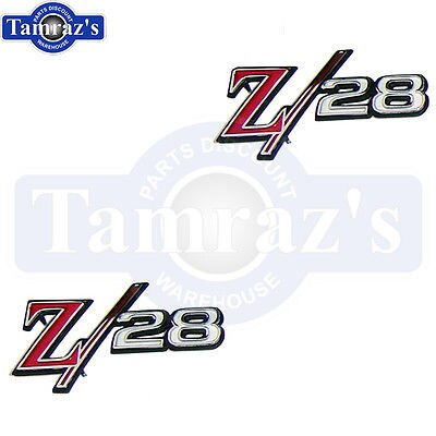 1969 Camaro Z28 Z/28 Fender Emblem Pair New