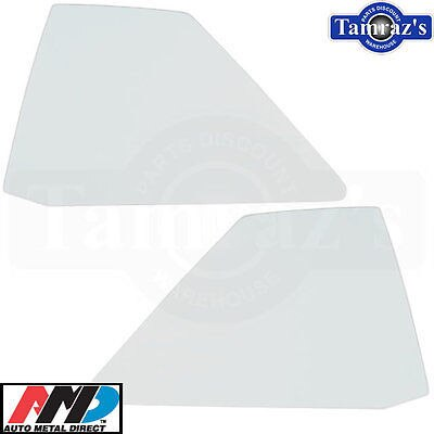 64-5 GM BOP Rear Quarter Window Glass Clear AMD - Pair