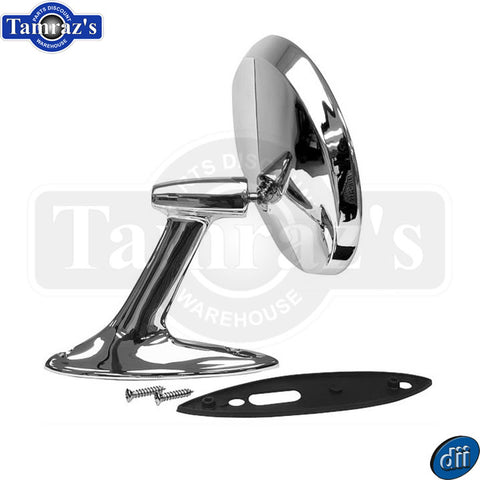 53-54 Chevy Bel Air Chrome Round Outside Door Mirror with Hardware Dynacorn