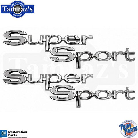 "67 "" Super Sport ""  Quarter Panel Emblem Script Pr. USA"