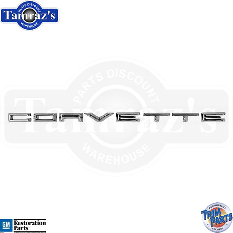 "61 62 "" Corvette "" Front Emblems Letters USA New"
