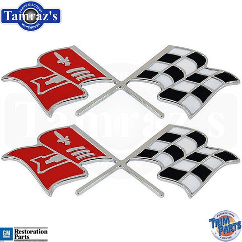 58-60 Corvette X Cross Flag Front Fender Emblems