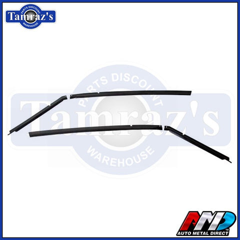 70-74 Barracuda Cuda Roof Panel Drip Rail Channel Set AMD