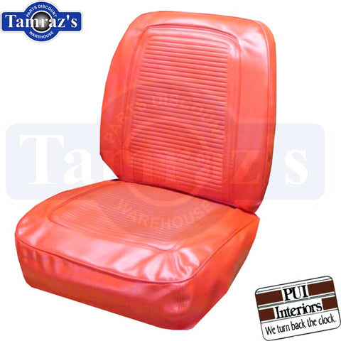 1964 1965 Barracuda Fastback Front & Rear Seat Covers Upholstery - Bright Red