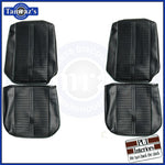 1966 GTO LeMans Front Bucket Seat Upholstery Covers - Black PUI New
